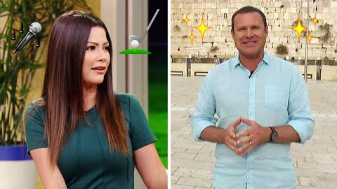 #DAEnUnMinuto: Ana Patricia juega golf igual que como canta, y a Alan se...