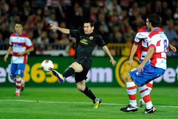 Lionel Messi fue titular y quería sacarse la espina de las fallas...