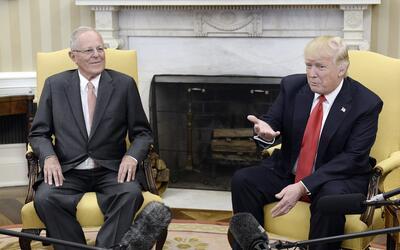 Kuczynski y Trump hablan ante los medios este viernes en la Casa Blanca.