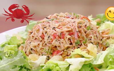 Chef por 5 minutos: Prepara una ensalada de cangrejo en un dos por tres