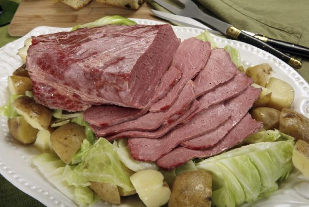 Carne de ternera marinada Esta carne ha sido tratada primero en salmuera...