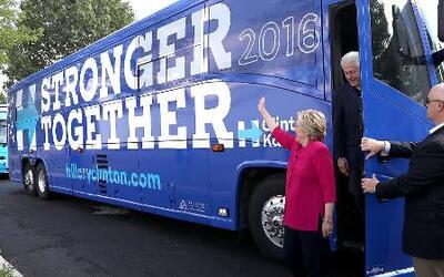 El inicio del recorrido electoral de Hillary Clinton