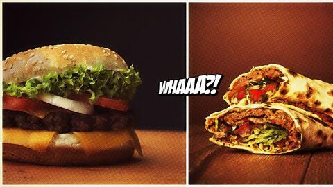 El híbrido entre una hamburguesa y un burrito