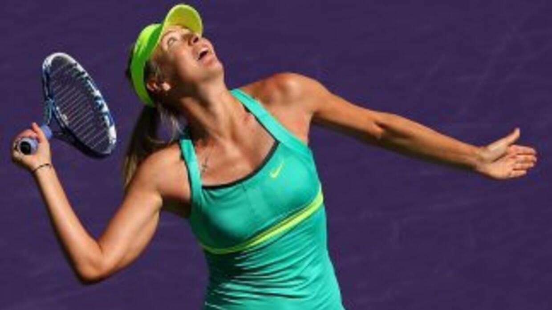 María Sharapova realizó un gran desgaste físico durante dos horas y media.