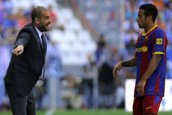 """Guardiola regaña a Thiago Alcántara. """"O haces lo que..."""