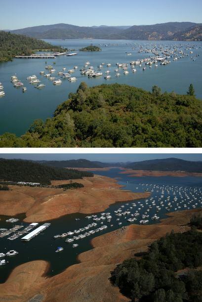 A medida que la severa sequía en California continúa por tercer año cons...