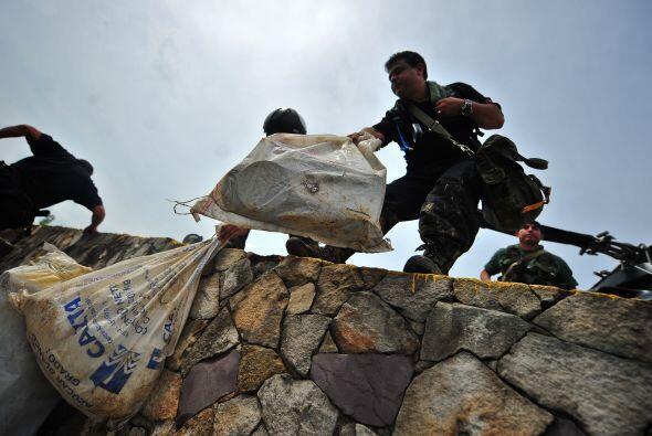 Miembros de la Fuerza Armada de Venezuela informaron sobre el desmantela...