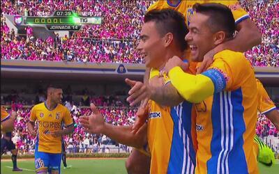 Lucas Zelarayán hizo un espectacular gol a los Pumas