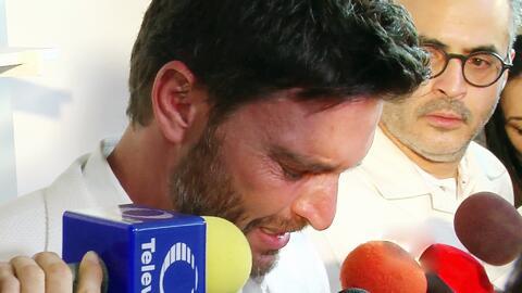 Julián Gil llora al hablar de su ruptura con Marjorie de Sousa
