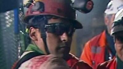 Florencio Ávalos fue el primer minero en ser rescatado.