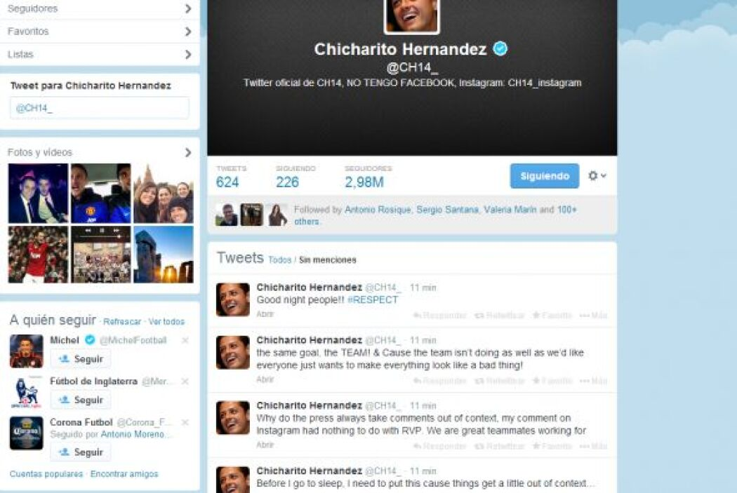 Javier Hernández quiere evitar más polémicas. Por eso 'Chicharito' aclar...