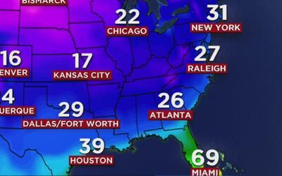 Frío y viento en Dallas, el pronóstico para este jueves 8 de diciembre