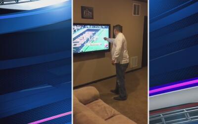 Fanático arruinó su televisor tras derrota de Alabama ante Clemson