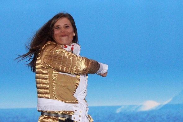 ...y el de la checa Eva Samkova, ganadora de la prueba de cross de 'snow...
