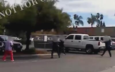 Imagen del tiroteo policial a Alfred Olango en El Cajon, California.