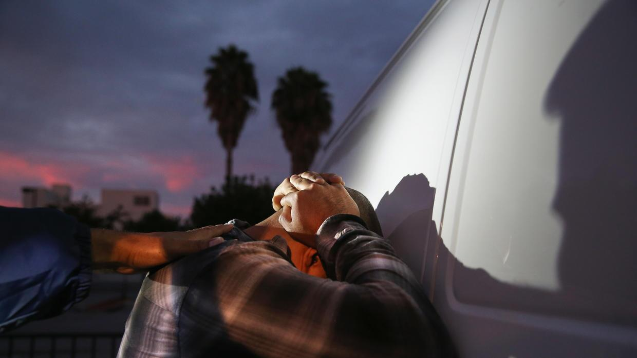 An ICE detention in Los Angeles