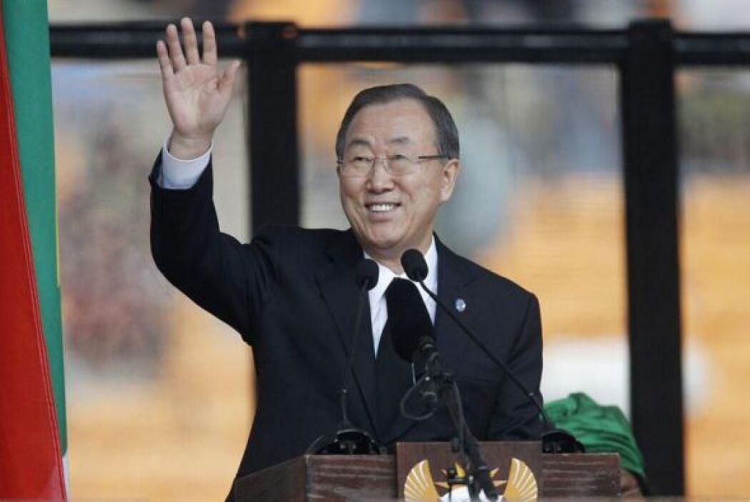 El secretario general de la ONU, Ban Ki-moon, dio un discurso en el esta...