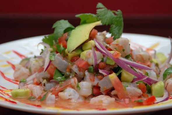 Ceviche de camarón a la mexicana por la Chef Liana Hernández Tur.