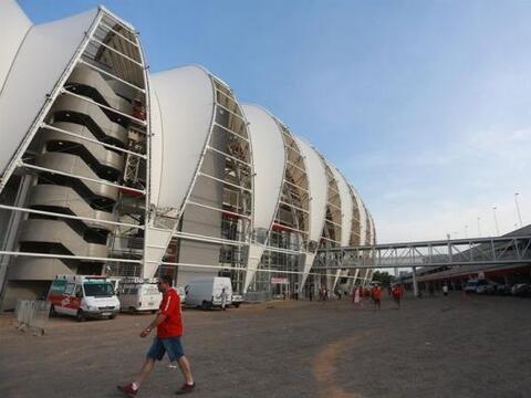 Vista del estadio Beira Rio Durante el amistoso Partido entre Internacio...