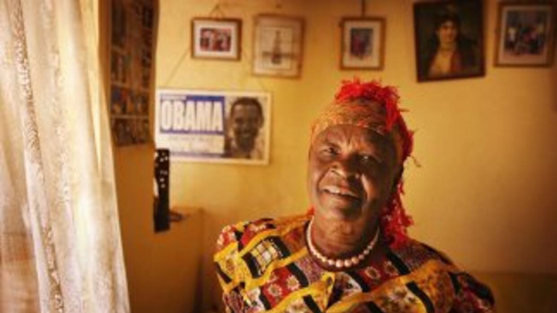 Sarah Obama tiene 88 años y vive en una villa en Kenia, donde fue reforz...