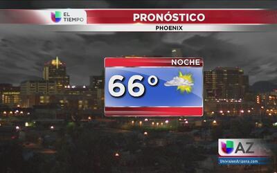 Inicio de semana con temperaturas agradables en Phoenix