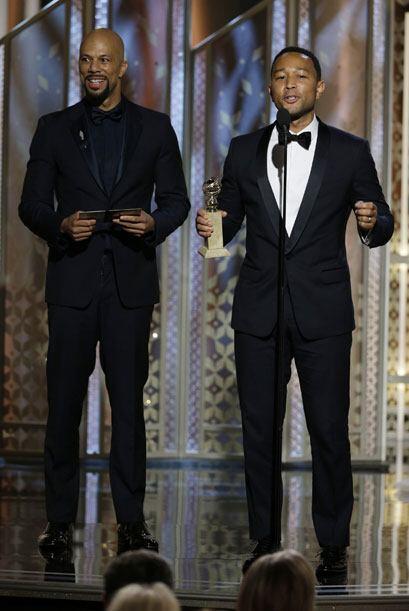 Common y John Legend vencieron por Mejor Canción, de la cinta 'Selma'.