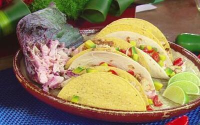 Los Tacos de pescado y repollo del Chef Pepín