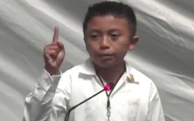 Niño mexicano realiza sorprendente discurso indignado por la corrupción...