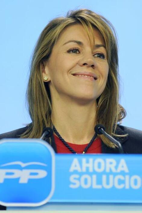 La secretaria general del Partido Popular (PP), María Dolores de Cospeda...