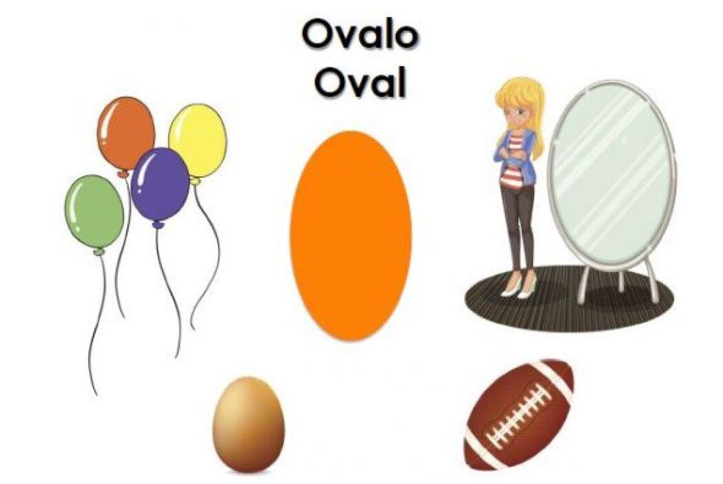 Pídele a tu pequeño que busque cosas en forma de ovalo alrededor de la c...