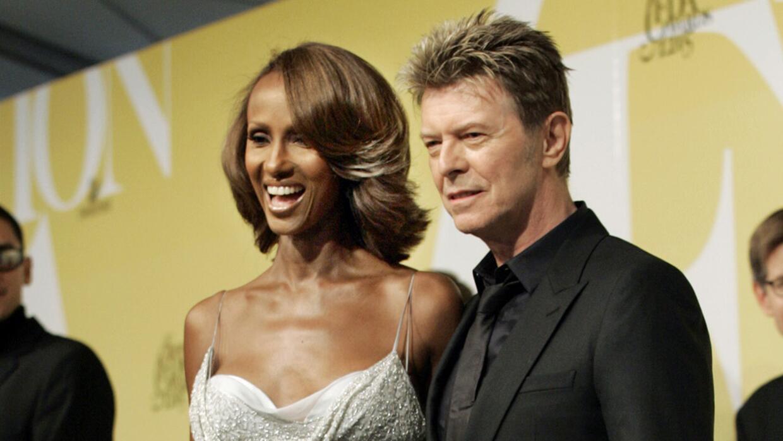 David Bowie y su esposa Iman
