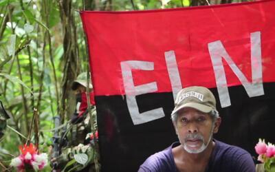 Captura de un video presentado en agosto de 2016 por el ELN como prueba...