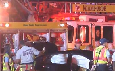 'Miami en un Minuto': Un muerto y ocho heridos dejó un accidente de auto...