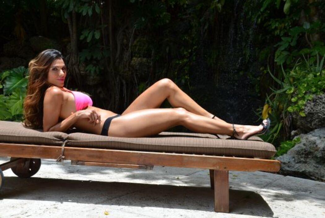 Más de una mujer desearía tener unas piernas tan firmes como las de Laura.