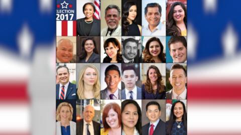 Los candidatos para la elección especial por el Distrito 34 en el...