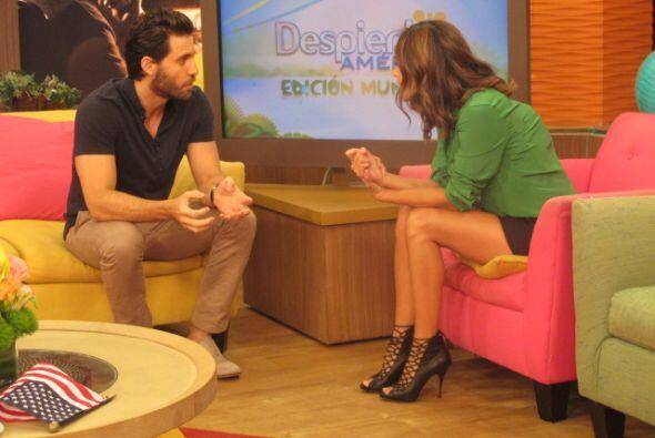 Edgar Ramírez llegó al programa a promocionar su nueva pel...