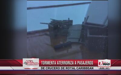 Tormenta aterroriza a pasajeros de crucero