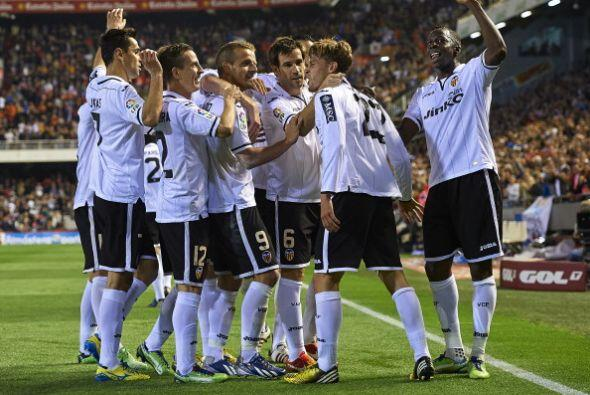 Valencia se impuso al Malaga con 4 goles en apenas seis minutos.