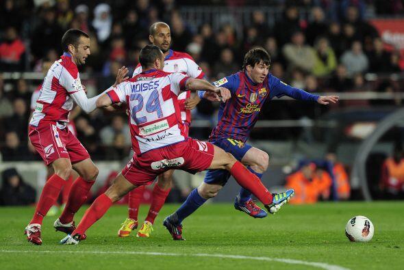 Messi estuvo imparable, inspirado y demodelor.