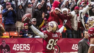 El receptor fue adquirido por los 49ers en el Draft del 2003 (AP-NFL).