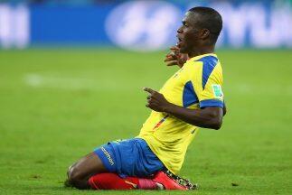 Enenr Valencia estuvo conectado en el juego y le dio el triunfo a Ecuador.