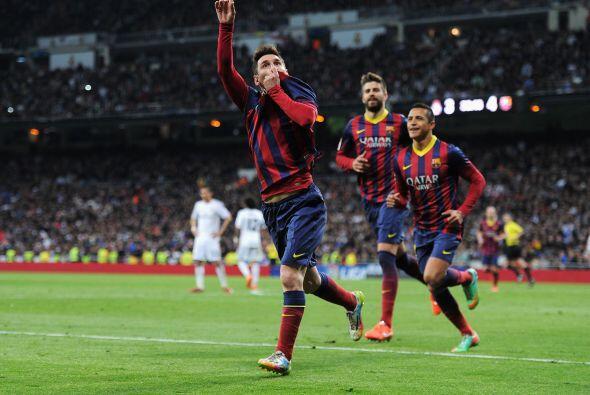 Messi, quien ya llevaba dos goles, no perdería la costumbre y con...