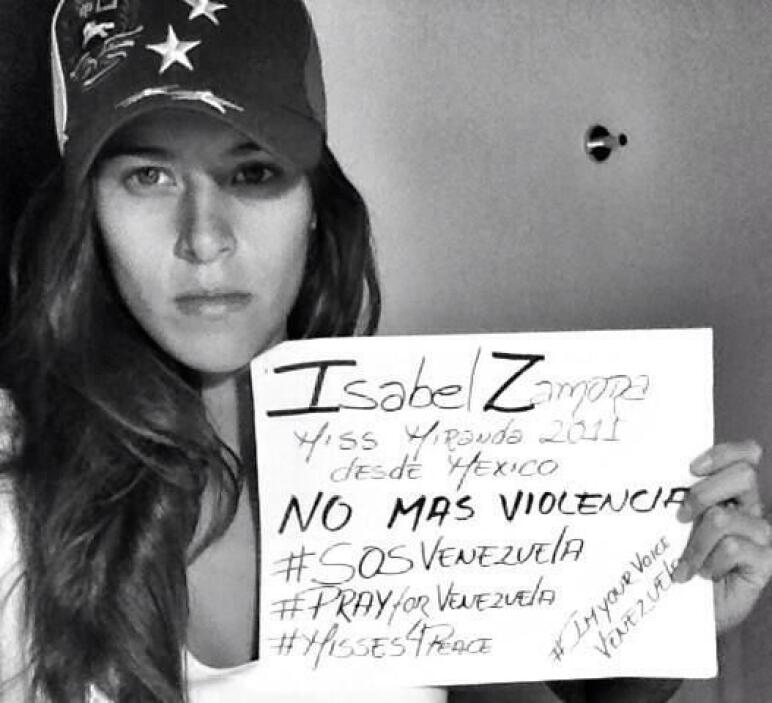 Isabel Zamora, Miss Miranda 2011, pide desde México no más violencia y a...