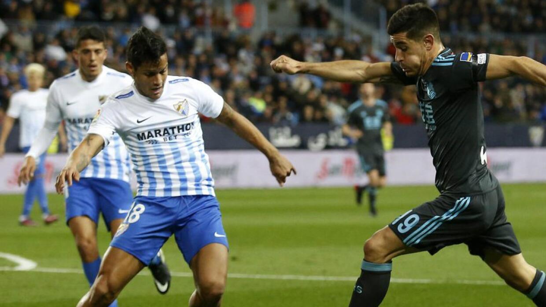 Real Sociedad le ganó al Málaga en La Rosaleda.