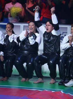 Los Guatemaltecos no perdían el ánimo durante el concurso.