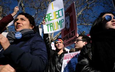 Día de los Presidentes se convirtió en día de protestas en Nueva York y...