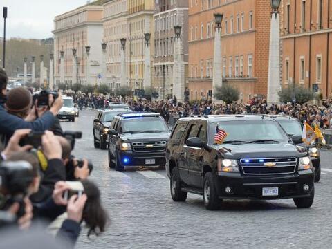 El presidente de Estados Unidos, Barack Obama, llegó hoy al Vatic...