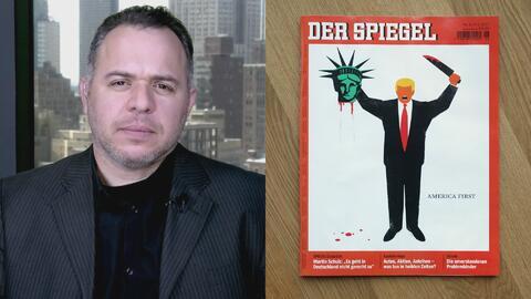 ¿Qué mensaje quiso enviar el autor de una portada donde aparece Trump de...