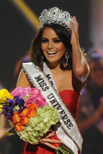La joven mexicana ganó el Certamen de Miss Universo 2010, el pasado mes...