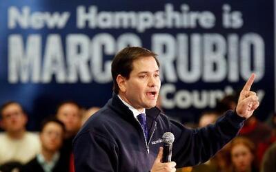 El precandidato presidencial republicano, el senador de Florida, Marco R...
